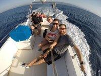 Paseo en barco con el club de buceo