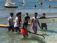 Learning surfing in Cullera