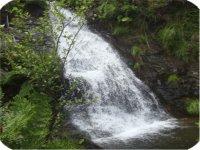 Cascada en el itinerario