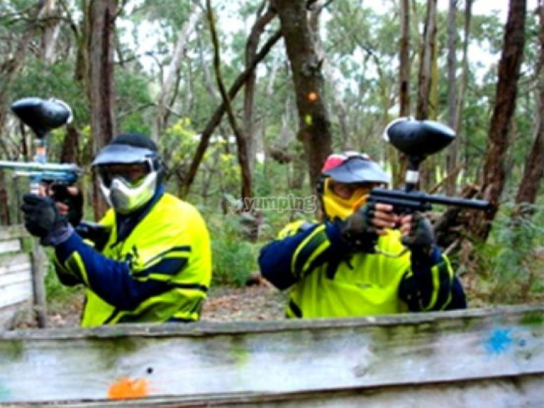 Paintball para despedidas de soltero