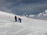 Skier holding