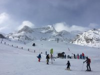 Snowboarding on the slopes of Formigal