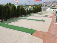 Mini golf en el circuito