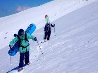 的雪滑雪板特拉韦西亚tabal
