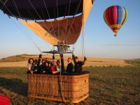 Getting the balloon ready for the flight