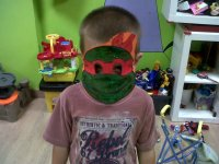 careta tortuga ninja rafael