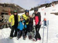 Aprendiendo esqui en la estacion de Baqueira
