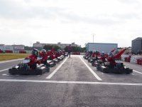 Drivers with red t-shirts in San Javier