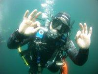 Inmersión desde barco, carga de aire, Finisterre