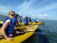Canoa en mar abierto