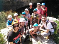 Group equipped for the ferrata