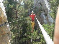 铁索攀岩和登山费拉塔各级