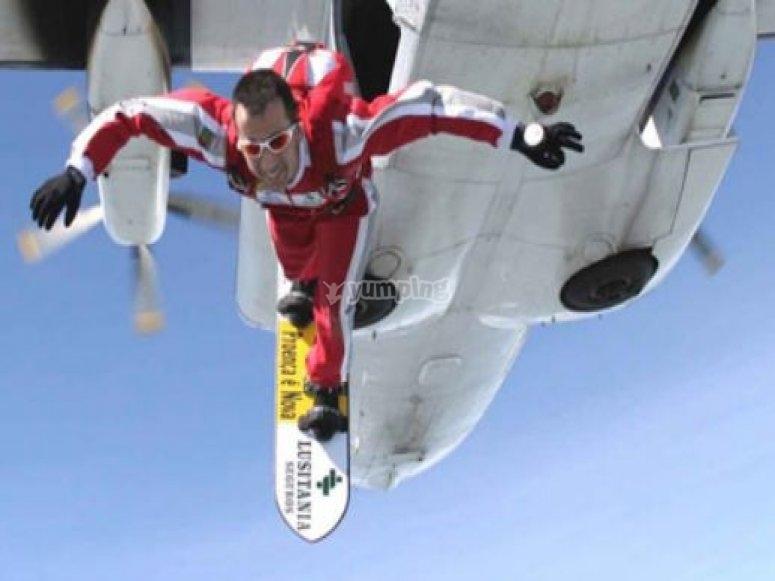 Salto de skysurf