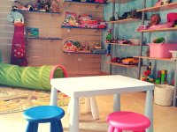 Zona de juegos infantiles en Segovia