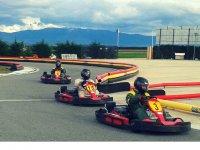 Karts en la pista en Segovia