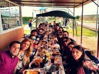 Comida de grupo en Segovia