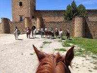 Vista del castillo deste otro caballo