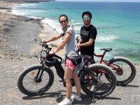 Acercandonos a la costa con las bicis