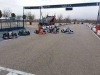 Karts junto a la meta