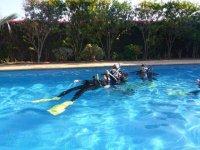Descansando despues de la inmersion