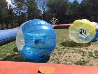 Burbujas de plastico en zona acotada