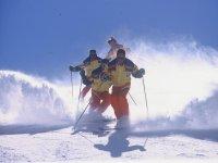 滑雪后的雪粉