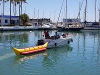 Banana boat en puerto de Estepona