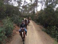 Riding through the natural park