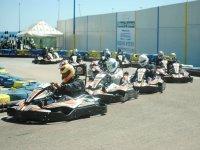 Competicion de karting ajustada