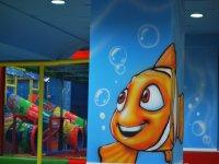 Todo el parque infantil decorado y tematizado en un mundo subamrino