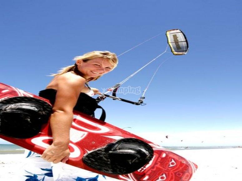 Practica Kitesurf con PR Surfing