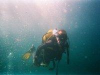 开放水域潜水员在巴塞罗那