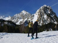 Snowshoeing in the national park