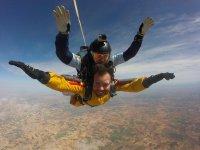 Enjoying the free fall