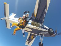 Skydiving from a light aircraft