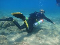 Explorando fondo marino