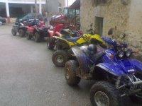 Quad aparcados para comenzar la aventura