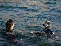 在巴伦西亚潜水洗礼