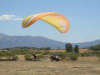 滑翔伞与视频的串联飞行