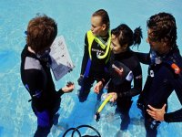 Diving courses in confined waters