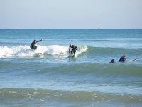 Surfing with friends in Albufera