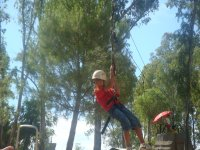 Zip line in the camp