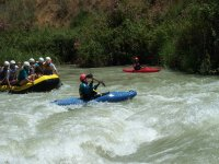 Rafting descents accompanied by monitors