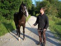 骑马穿越田园风光的阿斯图里亚斯环境