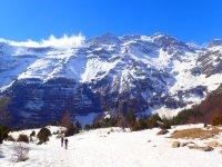 Snowshoeing through Ordesa