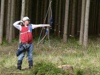 树林之间的射箭