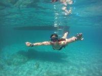 Snorkel durante il viaggio