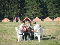 Practicando en el campo