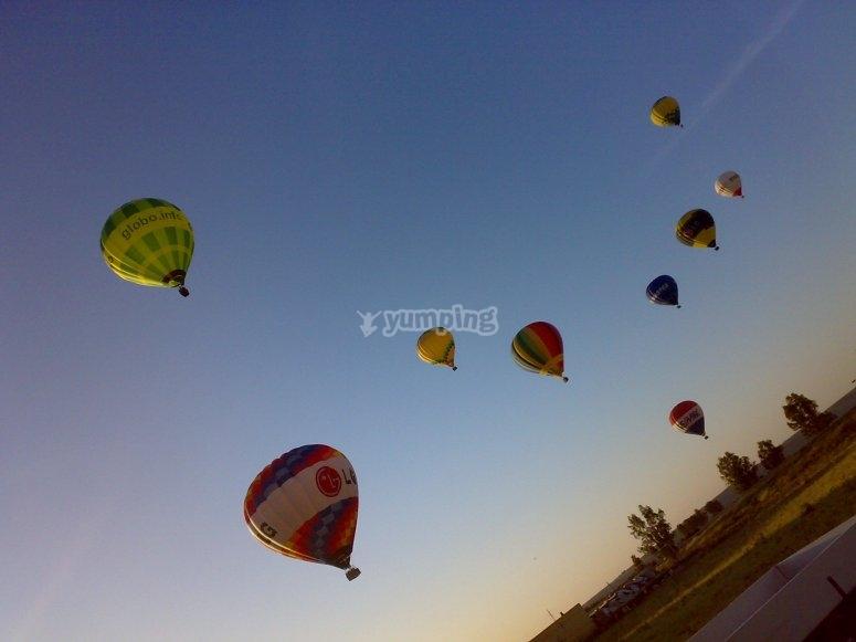 Conjunto de globos en Madrid