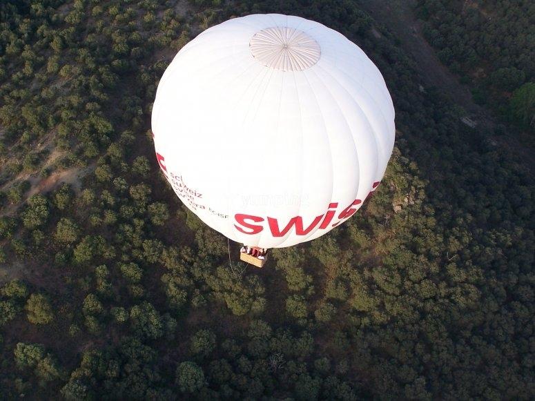 Promenade en montgolfière en Sierra de Guadarrama
